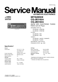 Service Manual Mitsubishi MR587386