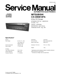 Руководство по техническому обслуживанию Mitsubishi CX-CB0910FA