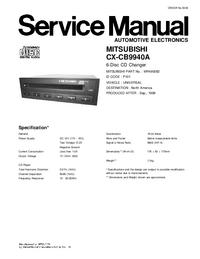 Manuale di servizio Mitsubishi CX-CB9940A