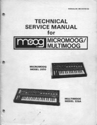 manuel de réparation Moog Multimoog