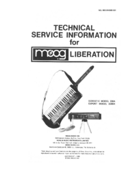 Manual de servicio Moog Liberation 338A