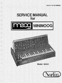 Service Manual Moog Minimoog 204D