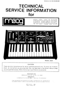 Manual de servicio Moog Rogue 342A