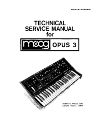 Service Manual Moog OPUS 339BX