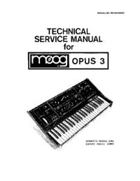 manuel de réparation Moog OPUS 339BX