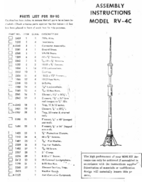 User Manual Mosley RV-4C