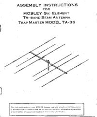 Manuale d'uso Mosley Trap Master TA-36
