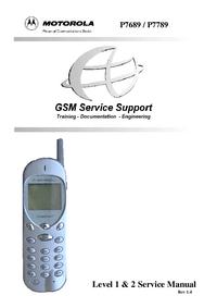 Service Manual Motorola P7789