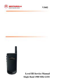Serviceanleitung Motorola V3682
