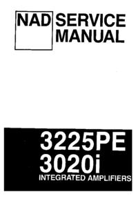 Manual de servicio NAD 3225PE