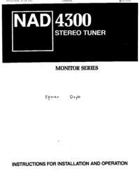 Manual do Usuário NAD 4300