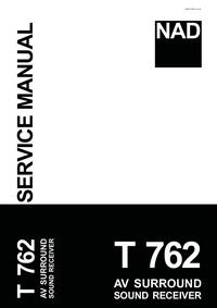 Manual de serviço NAD T 762