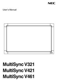 Gebruikershandleiding NEC MultiSync V461