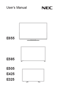 User Manual NEC E655
