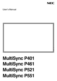 User Manual NEC MultiSync P551