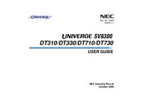 Manuale d'uso NEC DT310