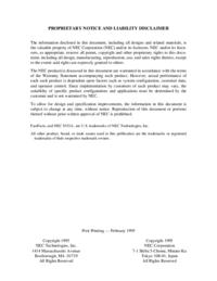 manuel de réparation NEC Versa P