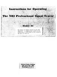 Service- und Bedienungsanleitung NRI 34