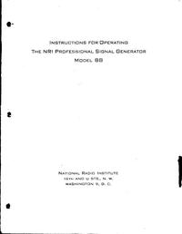 Service- und Bedienungsanleitung NRI 88