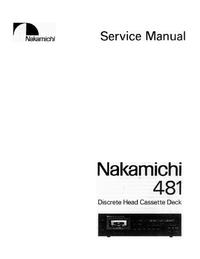 Instrukcja serwisowa Nakamichi 481