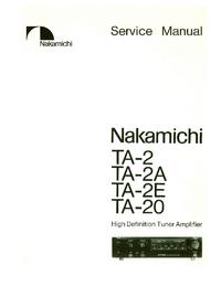 Manual de serviço Nakamichi TA-2A