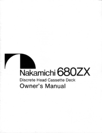 Manuale d'uso Nakamichi 680ZX