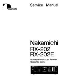 Serviceanleitung Nakamichi RX-202E