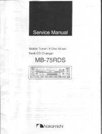 Руководство по техническому обслуживанию Nakamichi MB-75RDS
