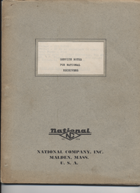 Service Manual National NC-108