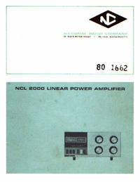 Manual de servicio National NCL 2000
