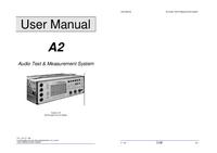 Manual del usuario Neutrik A2