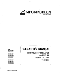 User Manual NihonKoden TEC-7200