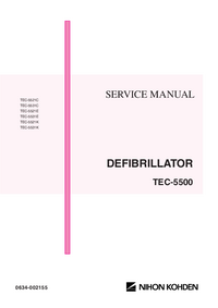 Service Manual NihonKoden TEC-5531