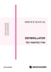 Manual de servicio NihonKoden TEC-7721