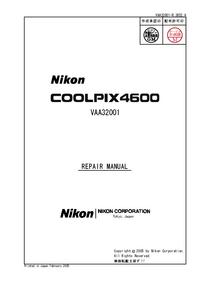Serviceanleitung Nikon Coolpix 4600