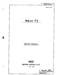 Servicehandboek Nikon F3