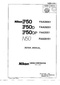 manuel de réparation Nikon N50