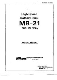 Manual de serviço Nikon MB-21