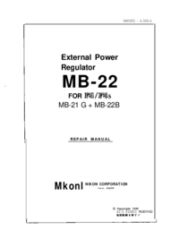Service Manual Nikon MB-22B