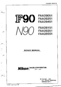 Servicehandboek Nikon N90