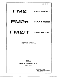 Руководство по техническому обслуживанию Nikon FM2