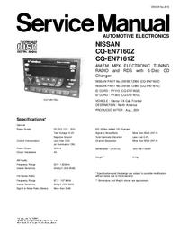 Manual de servicio Nissan CQ-EN7160Z