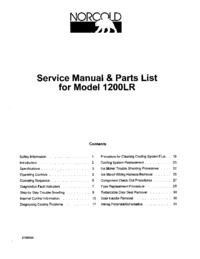 Manual de servicio Norcold 1200LR