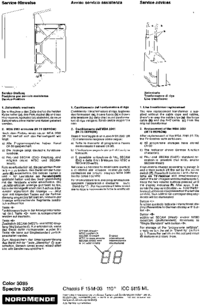Service Manual Nordmende Spectra 3205