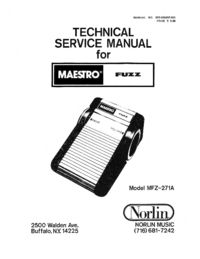 Service Manual Norlin Maestro Fuzz MFZ-271A