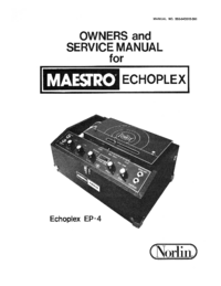 Servicio y Manual del usuario Norlin Echoplex EP-3