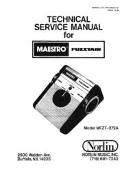 Service Manual Norlin Fuzztain MFZT-272A
