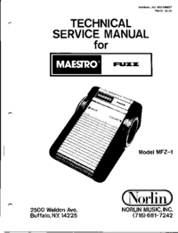 Service Manual Norlin Fuzz MFZ-1
