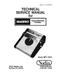 Service Manual Norlin MPF-320A