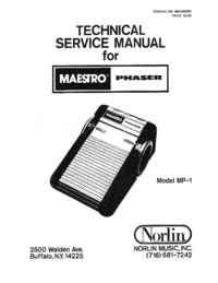 Service Manual Norlin MP-1